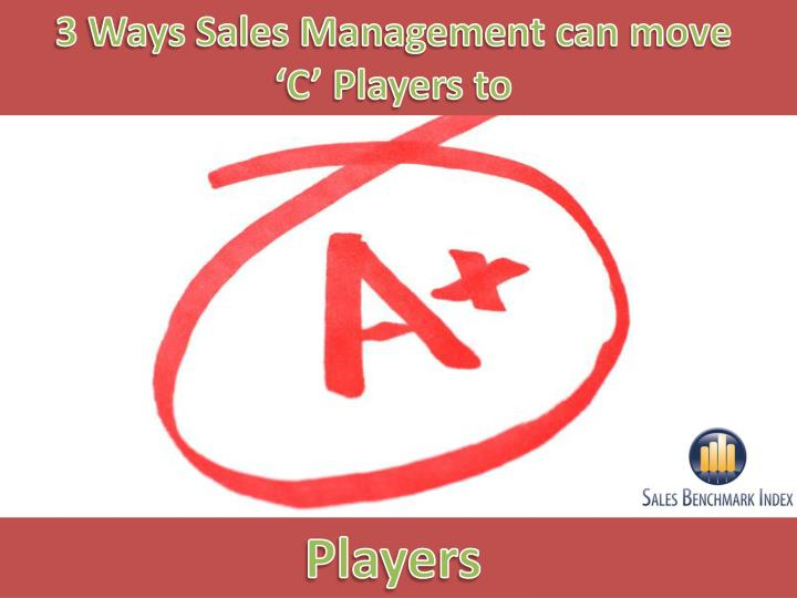 3 Ways Sales Management can move