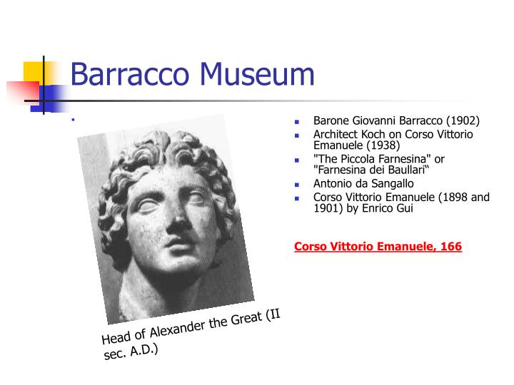 Barracco Museum