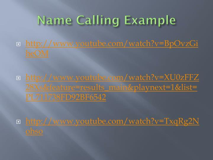 Name Calling: Propaganda Techniques PowerPoint Presentation