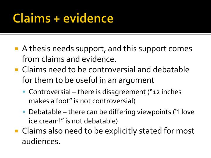 thesis claim evidence warrant Phd thesis claim evidence warrant success is designed to assist doctoral students who are writing theses in the english language the book.