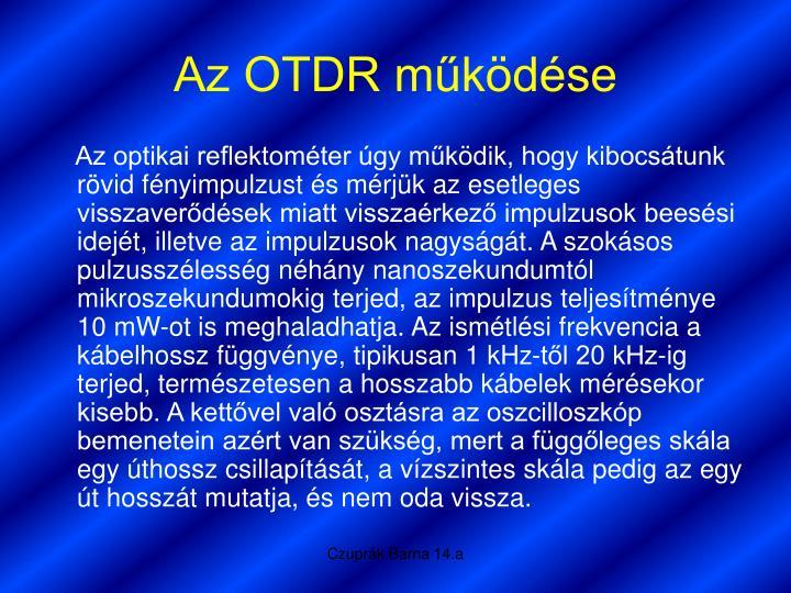 Az OTDR működése