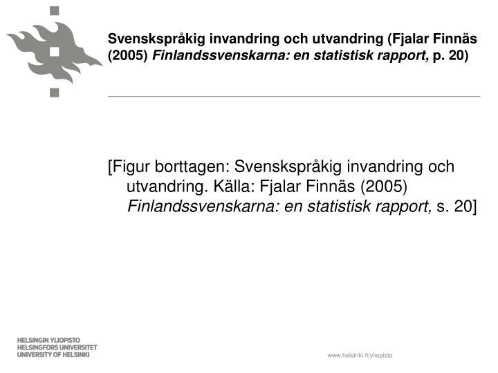 Svenskspråkig invandring och utvandring (Fjalar Finnäs (2005)
