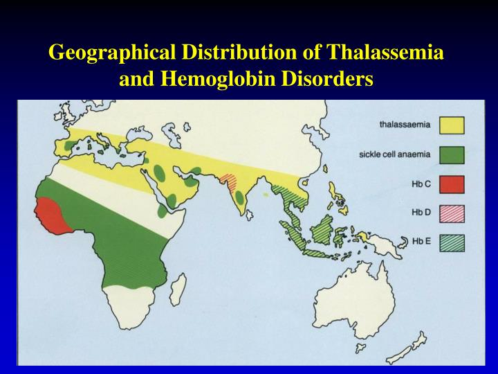 Geographical Distribution of Thalassemia and Hemoglobin Disorders