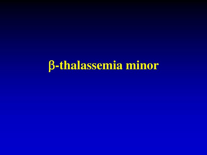-thalassemia minor