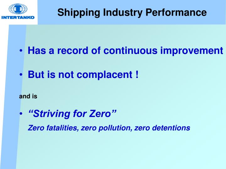 Shipping Industry Performance