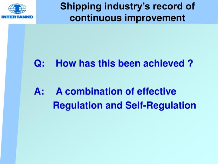 Shipping industry's record of