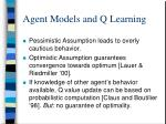 agent models and q learning1