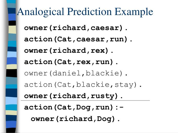 Analogical Prediction Example