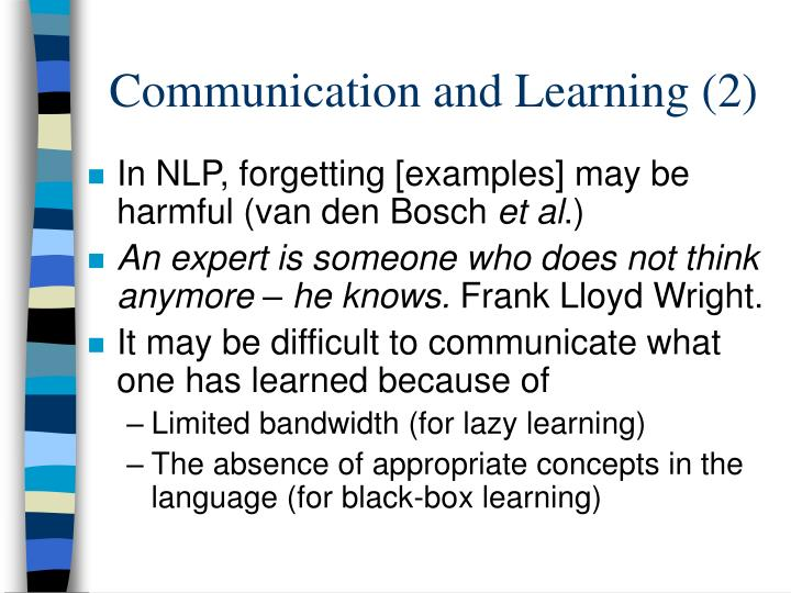 Communication and Learning (2)