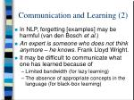 communication and learning 2