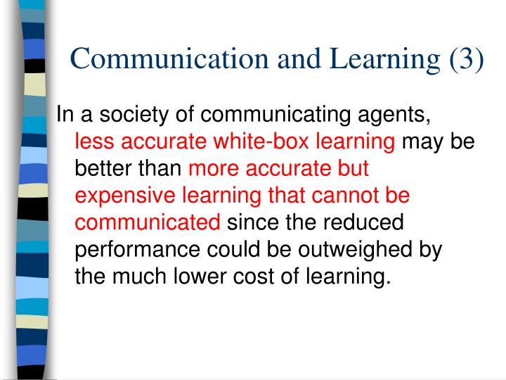 Communication and Learning (3)