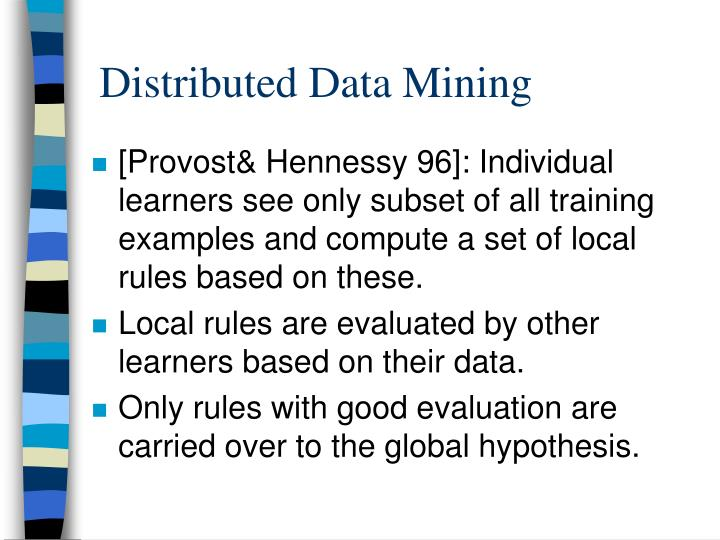 Distributed Data Mining