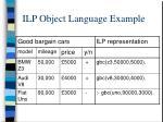 ilp object language example