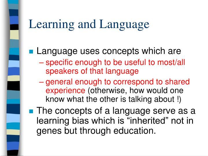 Learning and Language