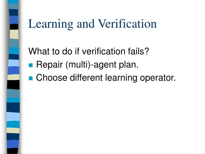 Learning and Verification