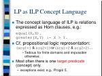 lp as ilp concept language