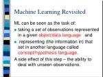 machine learning revisited