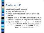 modes in ilp3