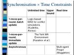 synchronisation time constraints