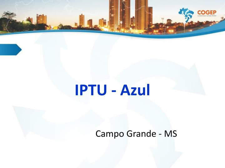 IPTU - Azul