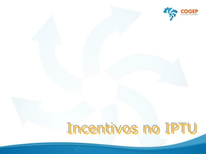 Incentivos no IPTU