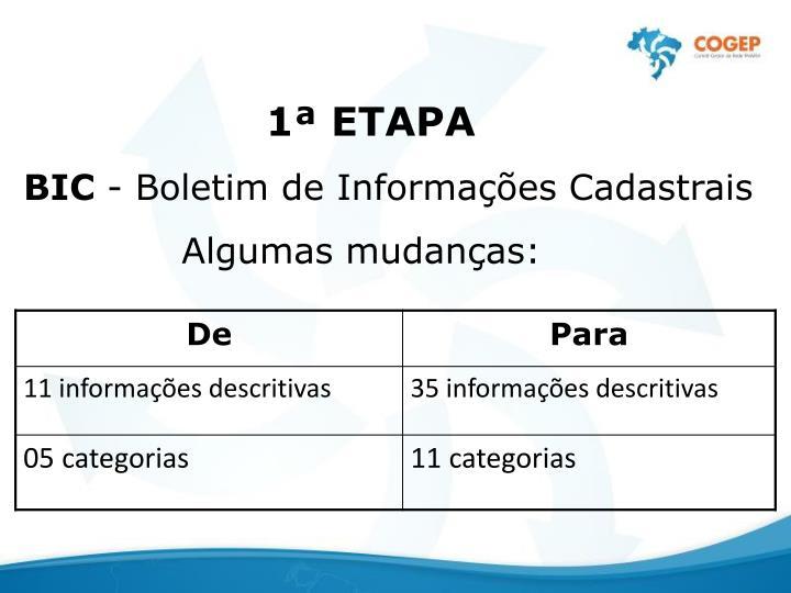 1 ETAPA