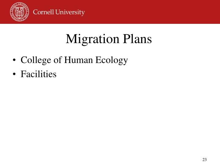 Migration Plans