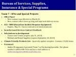 bureau of services supplies insurance special programs1