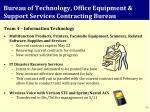 bureau of technology office equipment support services contracting bureau