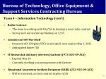 bureau of technology office equipment support services contracting bureau1