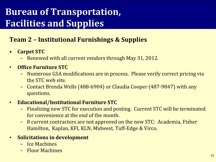 Bureau of Transportation,