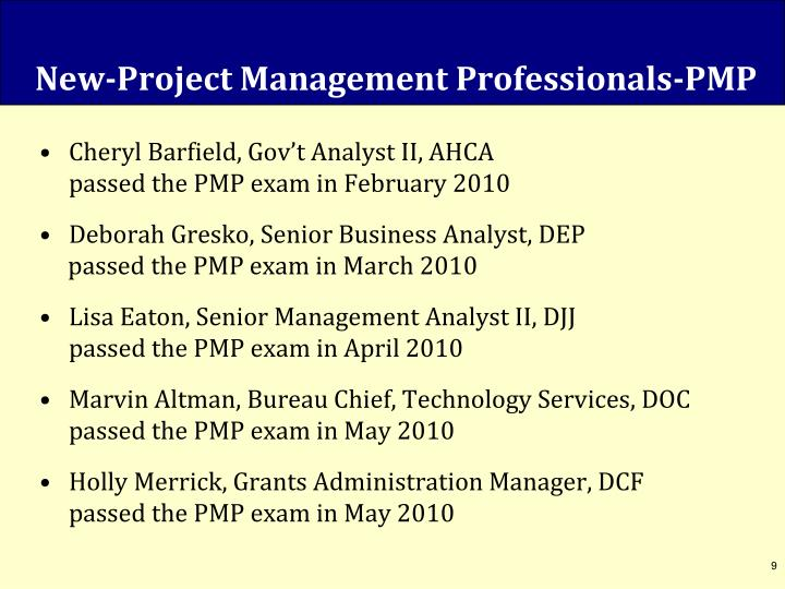 New-Project Management Professionals-PMP