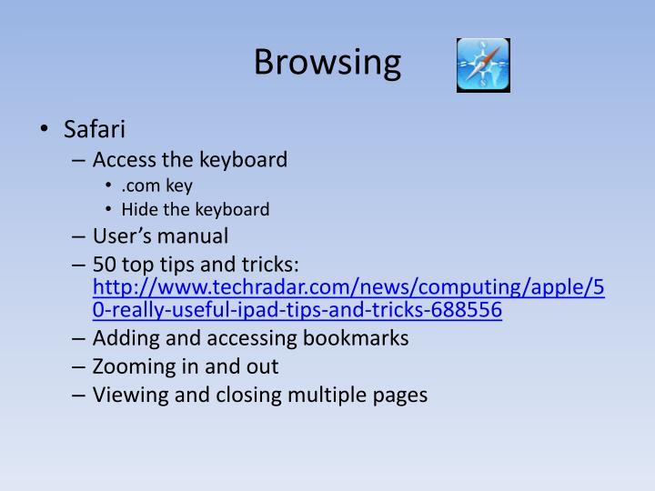 Browsing