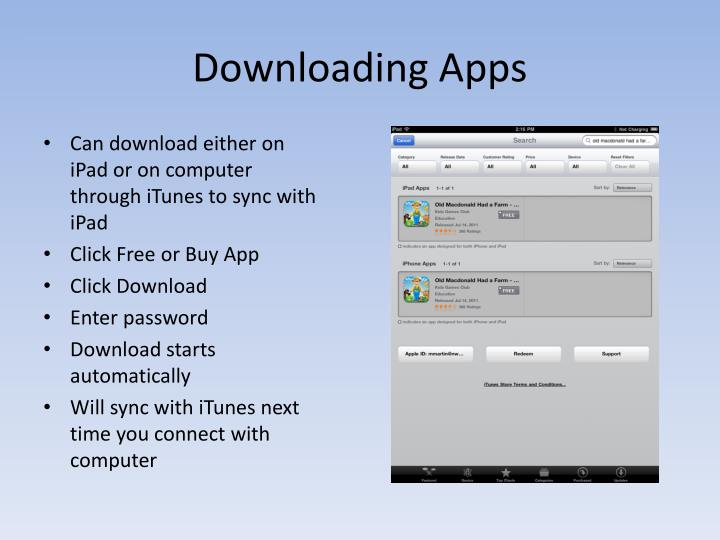 Downloading Apps