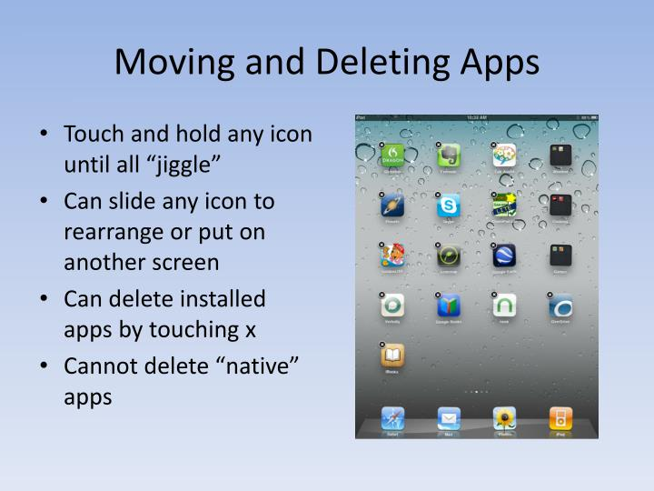 Moving and Deleting Apps