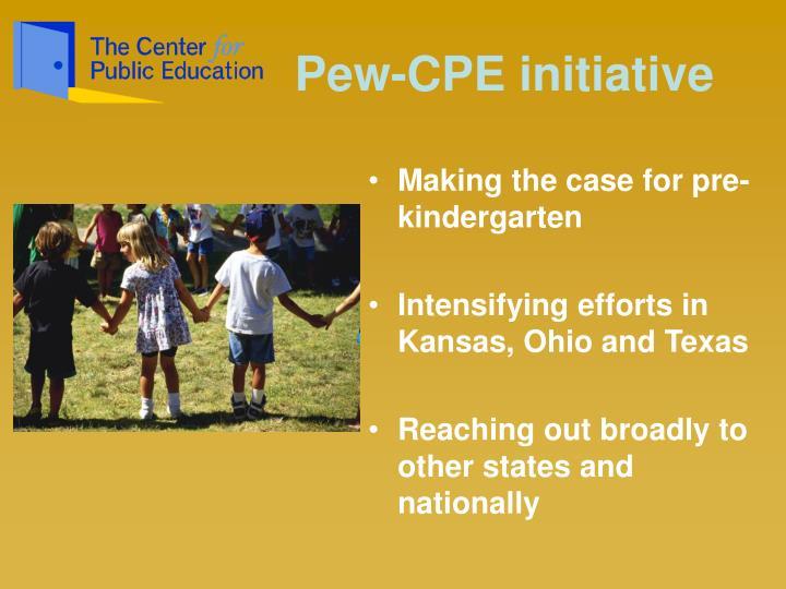 Pew-CPE initiative