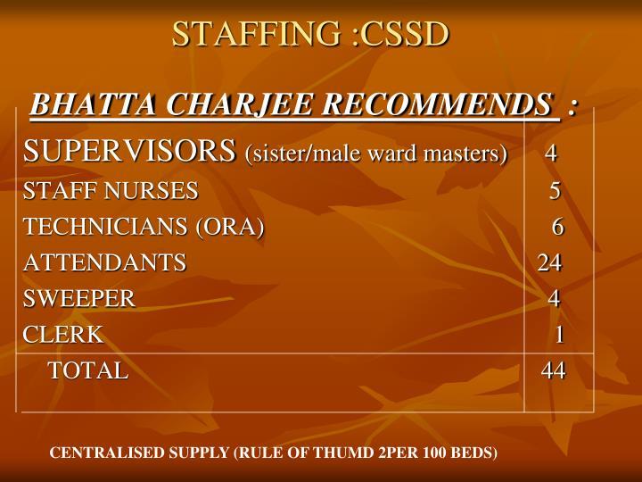 STAFFING :CSSD
