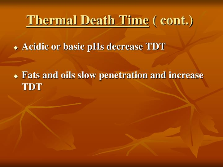 Thermal Death Time