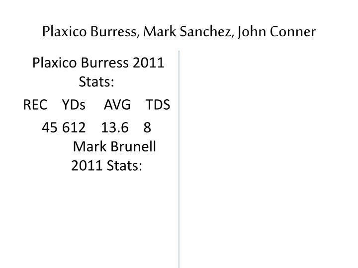 Plaxico Burress, Mark Sanchez, John Conner