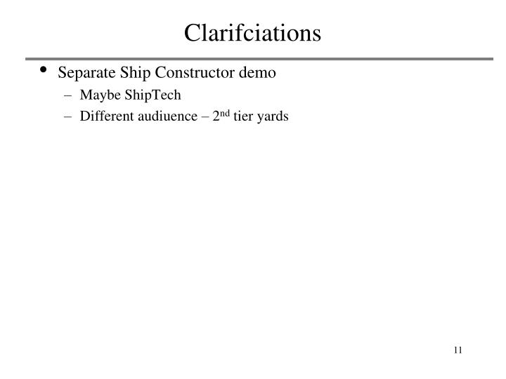 Clarifciations