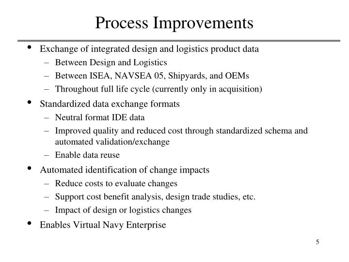 Process Improvements