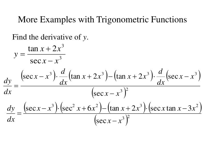 More Examples with Trigonometric Functions