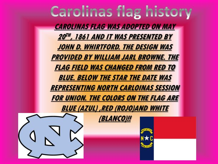 Carolinas flag history