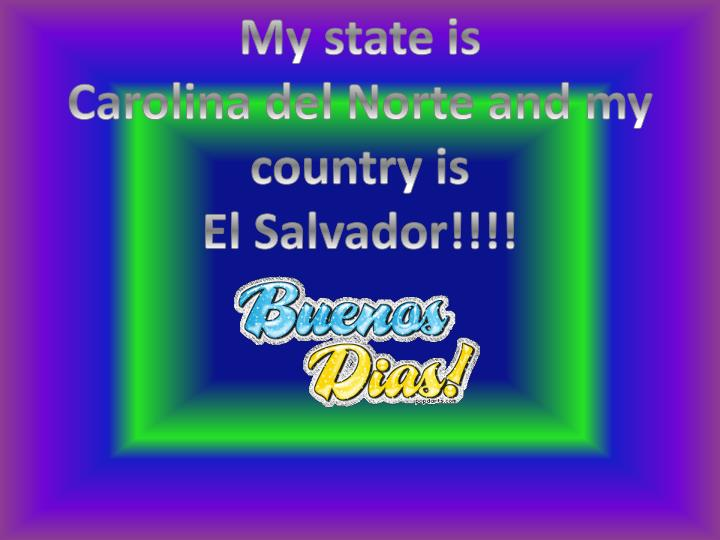 My state is