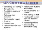 lea capacities strategies