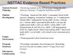 nsttac evidence based practices
