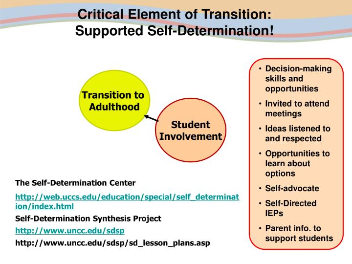 Critical Element of Transition: