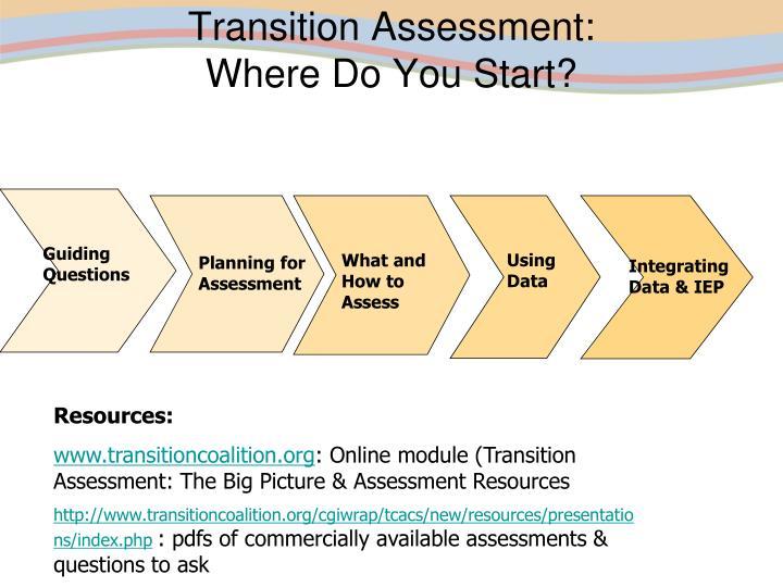 Transition Assessment: