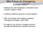 why focus on interagency collaboration