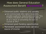 how does general education assessment benefit the university